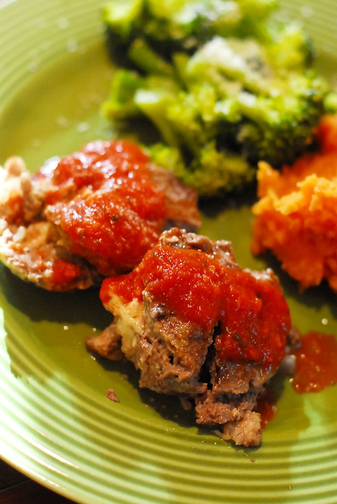 Stuffed Mini Meat Loaves