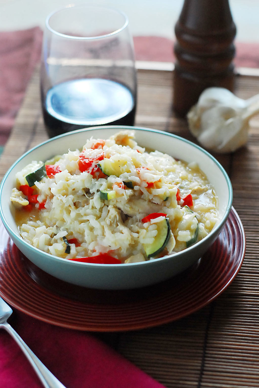 Easy Chicken Risotto With Zucchini