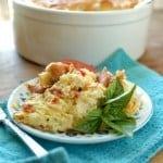 Cheesy Tomato Basil Souffle