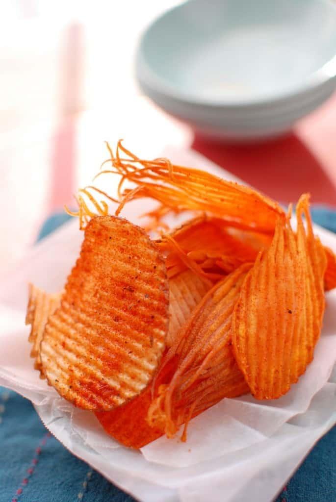 Homemade Ruffles Potato Chips