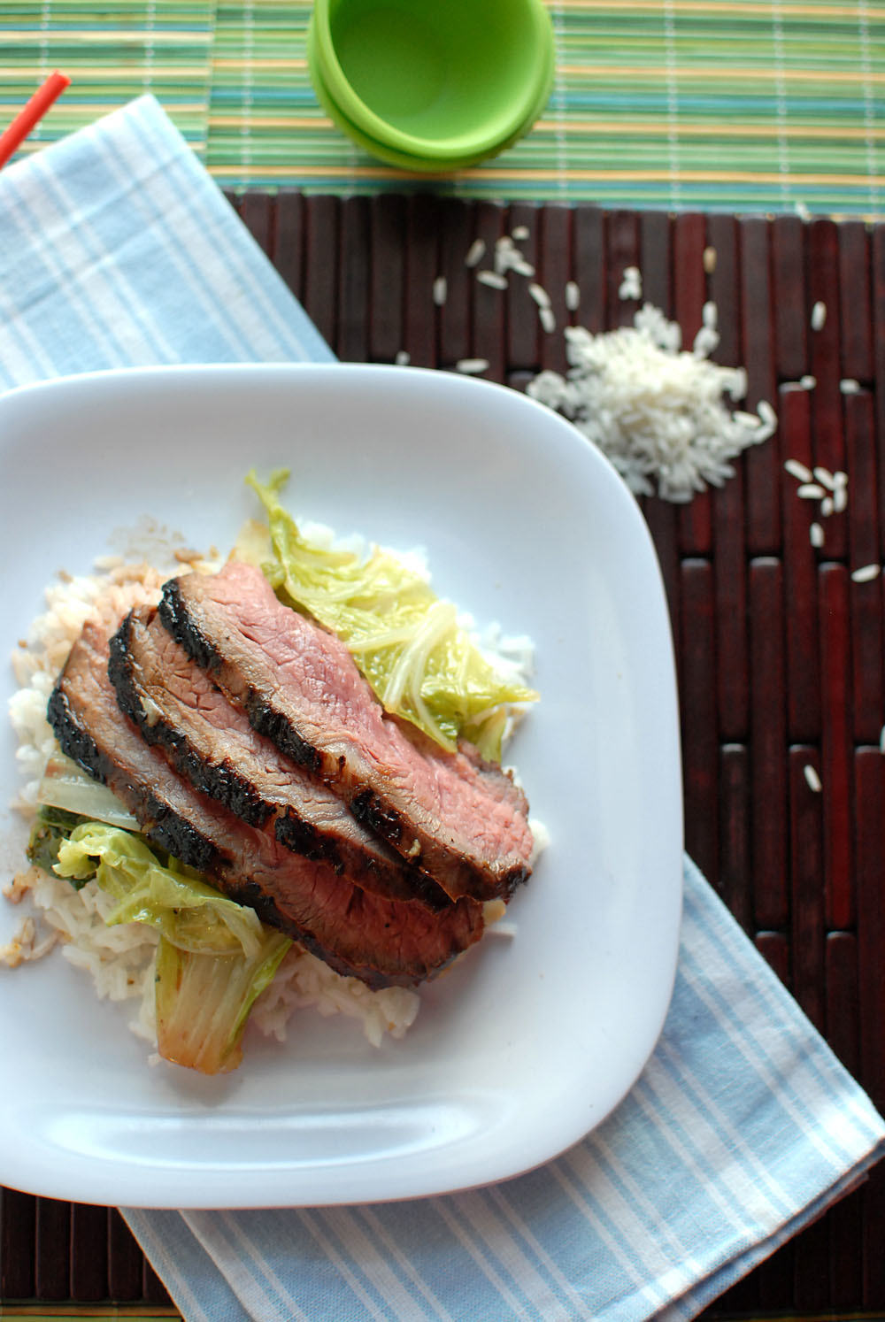 Asian Flank Steak And Bok Choy!