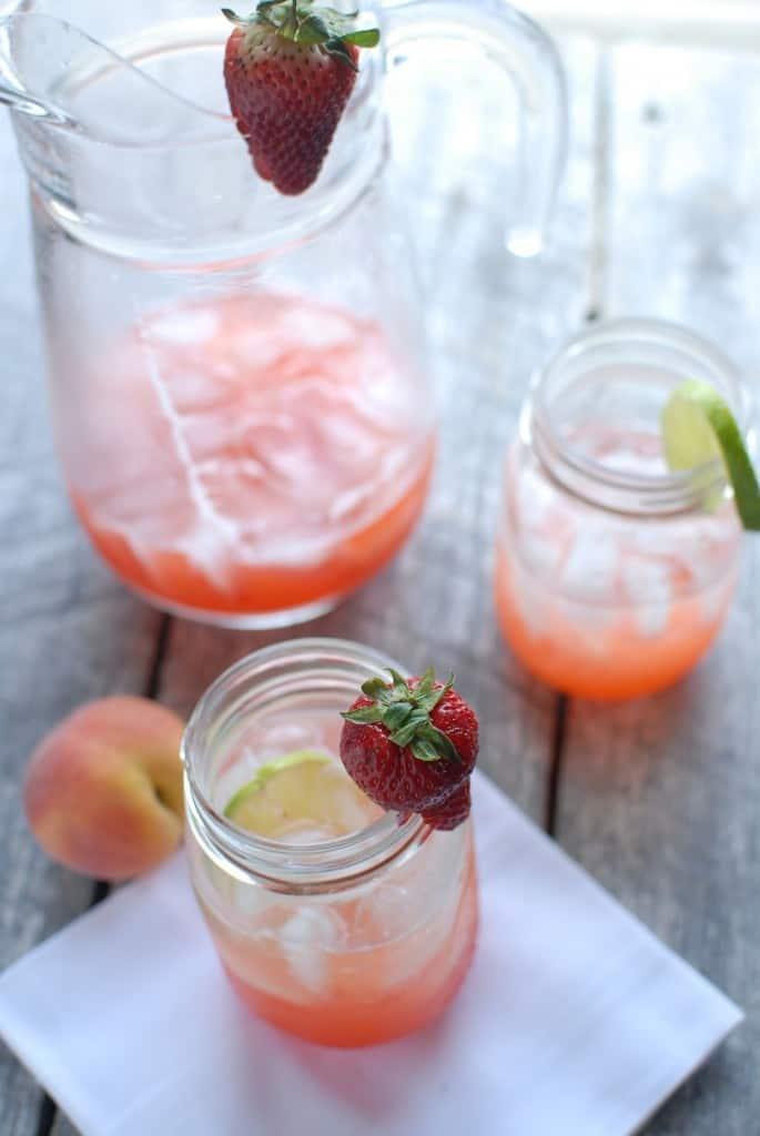 Strawberry Peach Limeade