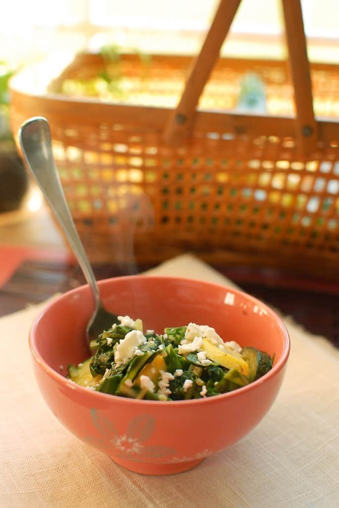 Sauteed Swiss Chard and Summer Squash