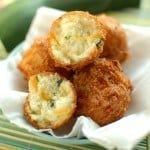 Zucchini Cheddar Hushpuppies from EatinontheCheap.com