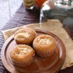 Pumpkin Cupcakes with Molasses Cream Cheese Filling