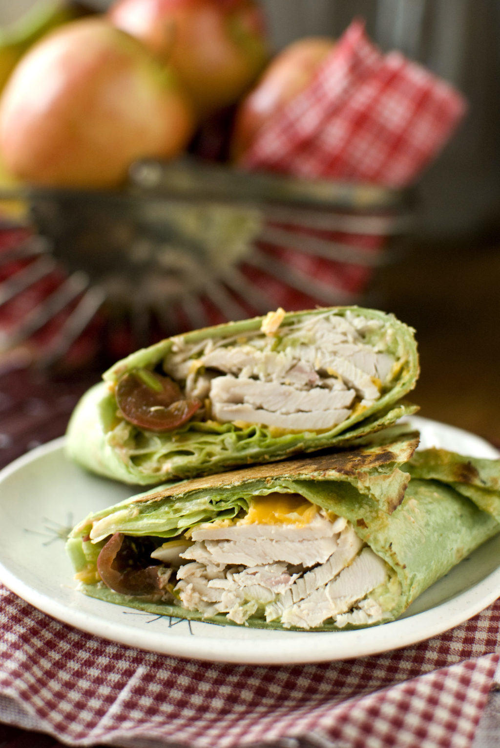 Turkey Avocado Wrap With Spicy Mayo