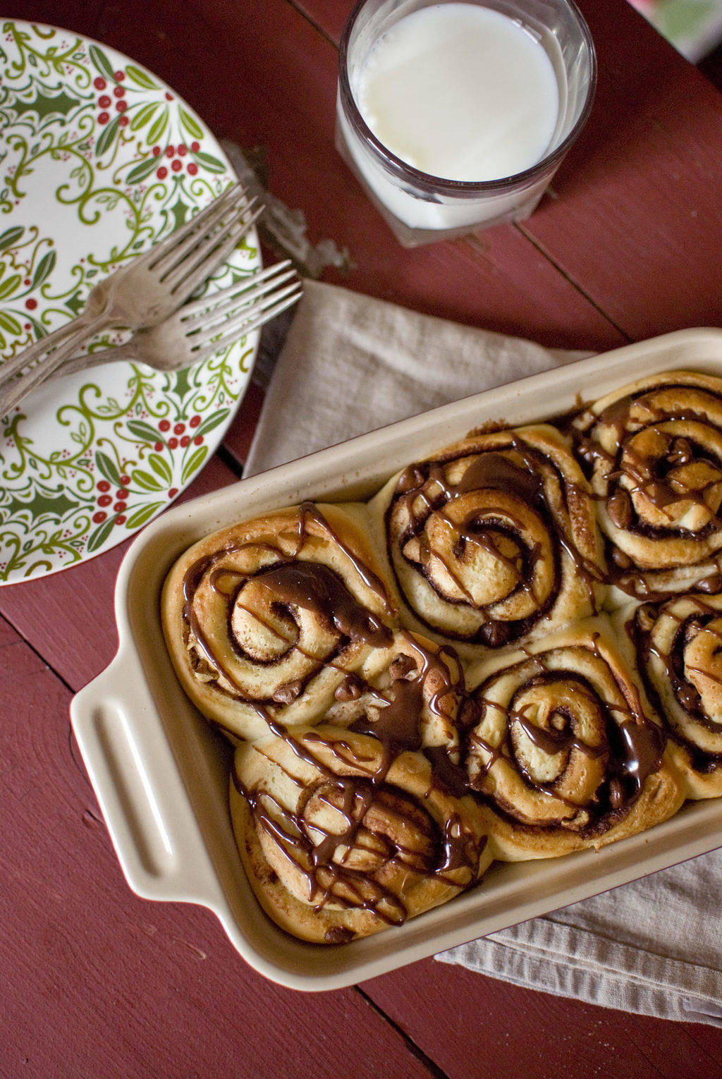 Walnut Chocolate Chip Yeast Rolls