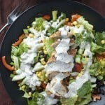 Spicy Southwest Salad with Creamy Cilantro Dressing