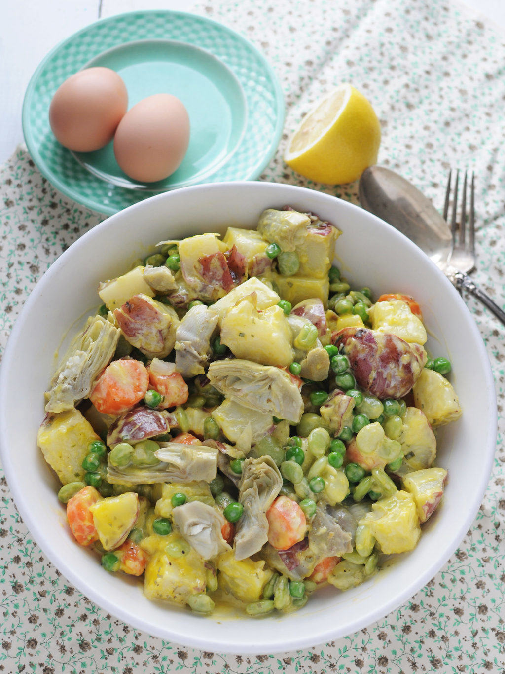 Spring Potato Salad With Homemade Mayo