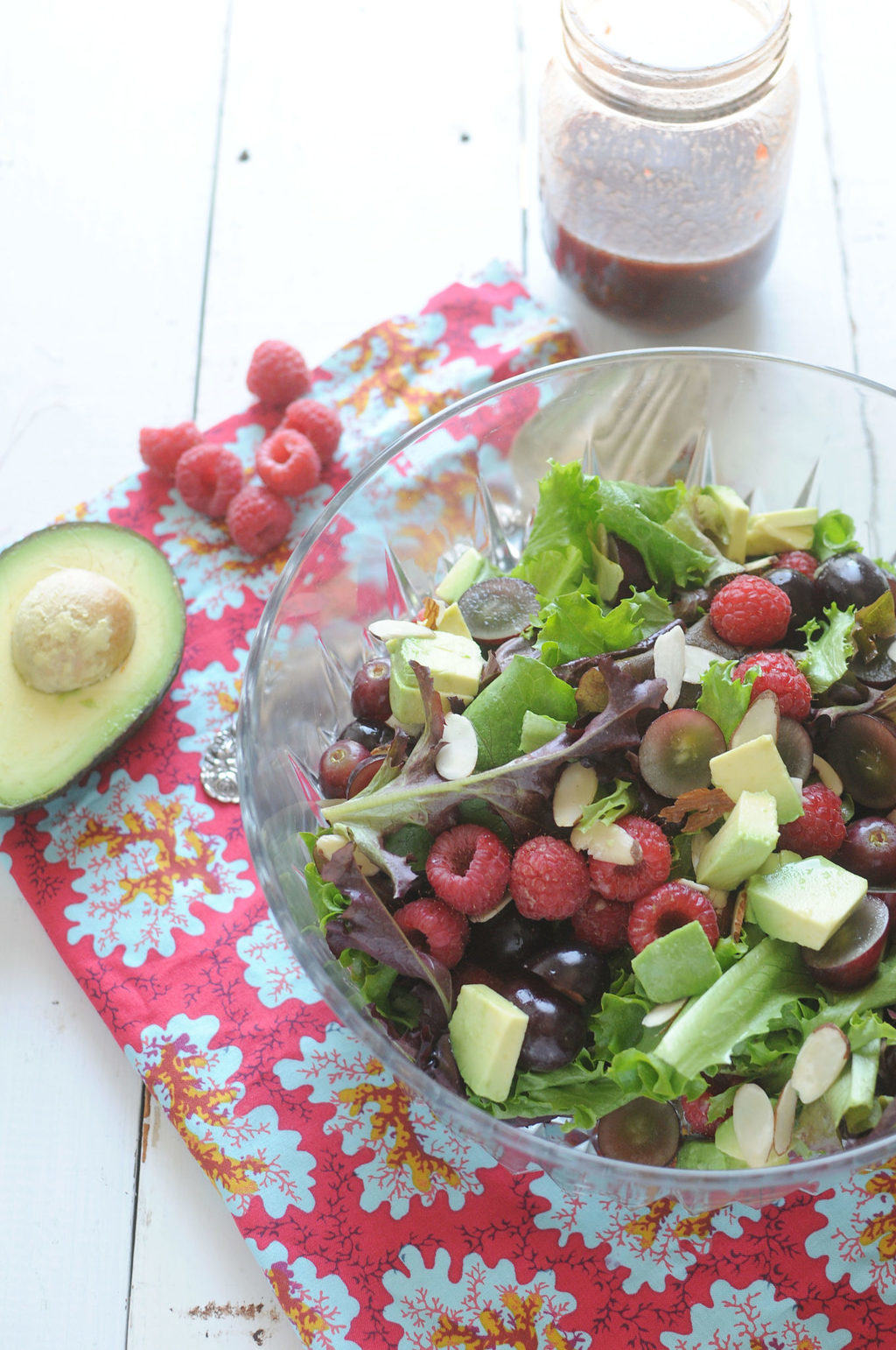 Raspberry Salad With Raspberry Vinaigrette