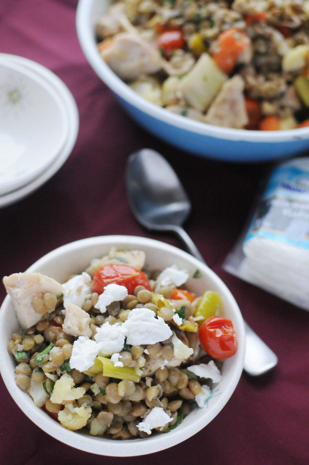 Roasted Veggie And Lentil Salad