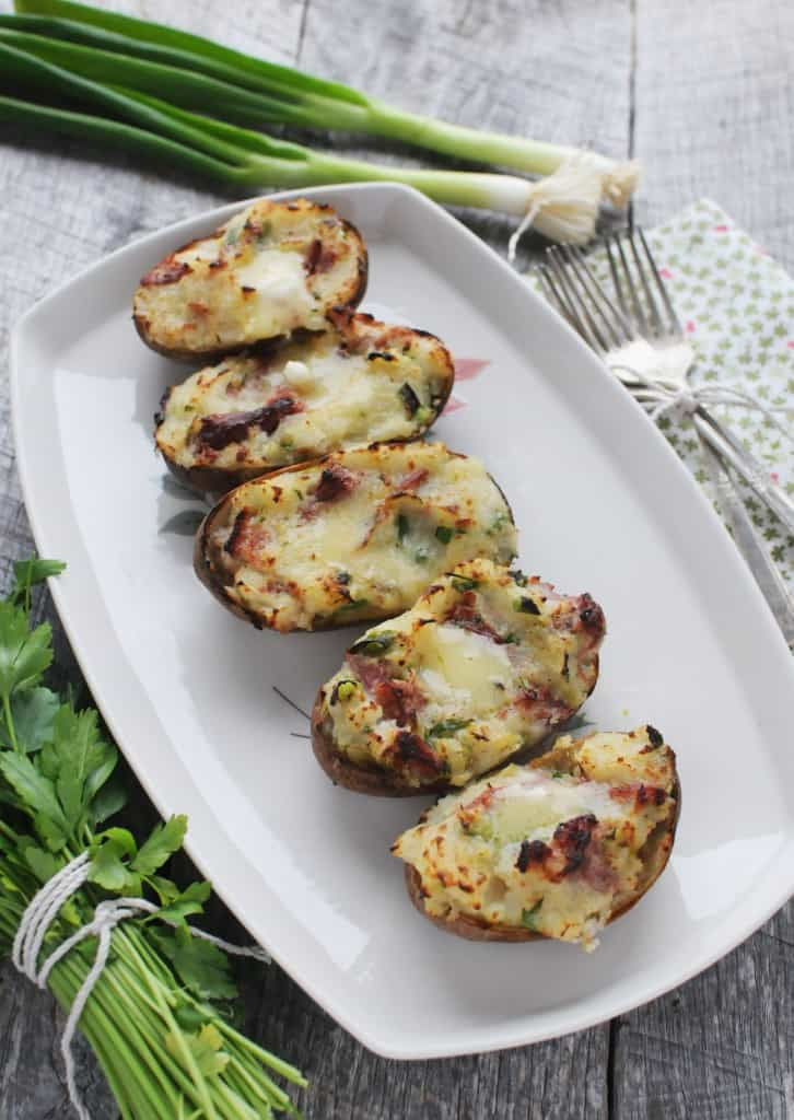Twice Baked Colcannon Potatoes for St. Patrick's Day