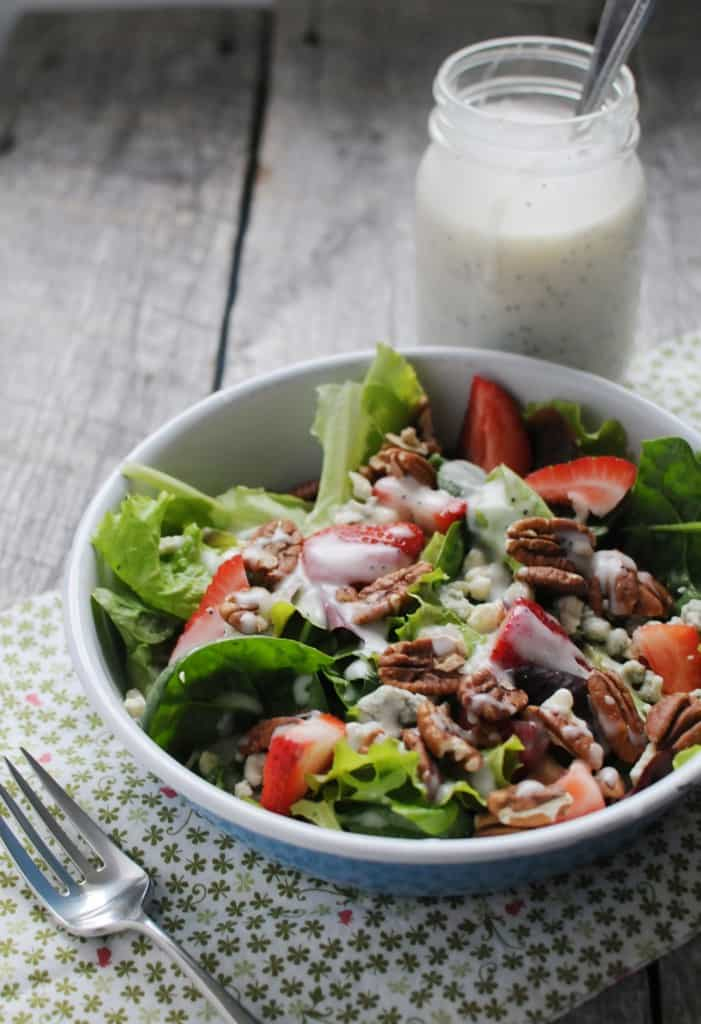 Strawberry Salad with Creamy Poppyseed Dressing