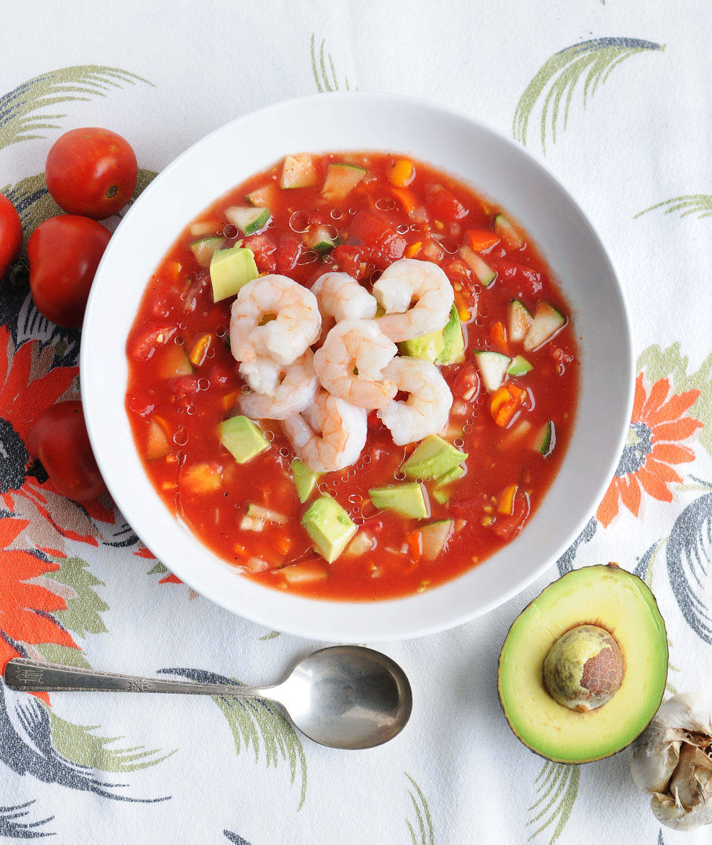 Spicy Shrimp Gazpacho