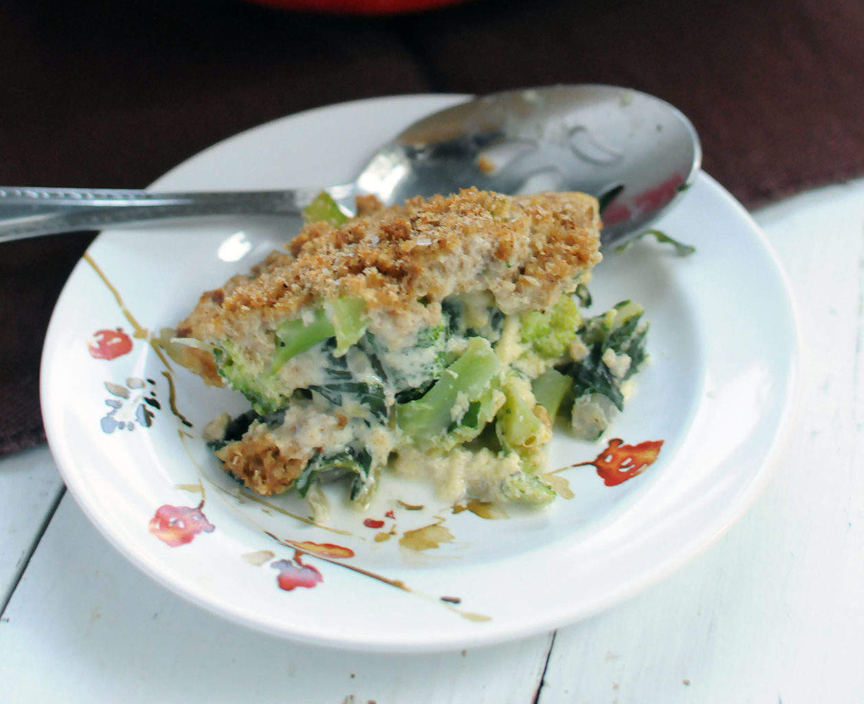 Broccoli And Greens Gratin