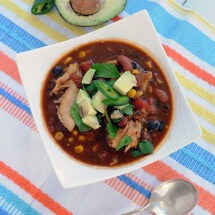 Easy Turkey Taco Soup from EatinontheCHeap.com. Great for turkey leftovers!