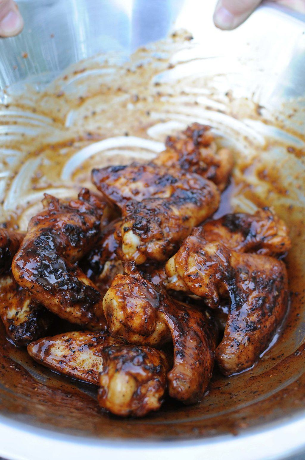 Saucy Barbecued Chicken Wings