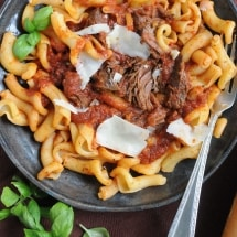 Short Rib Pasta for the Crockpot