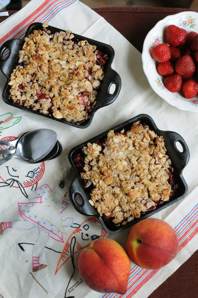 Strawberry Peach Crisp from EatinontheCheap.com