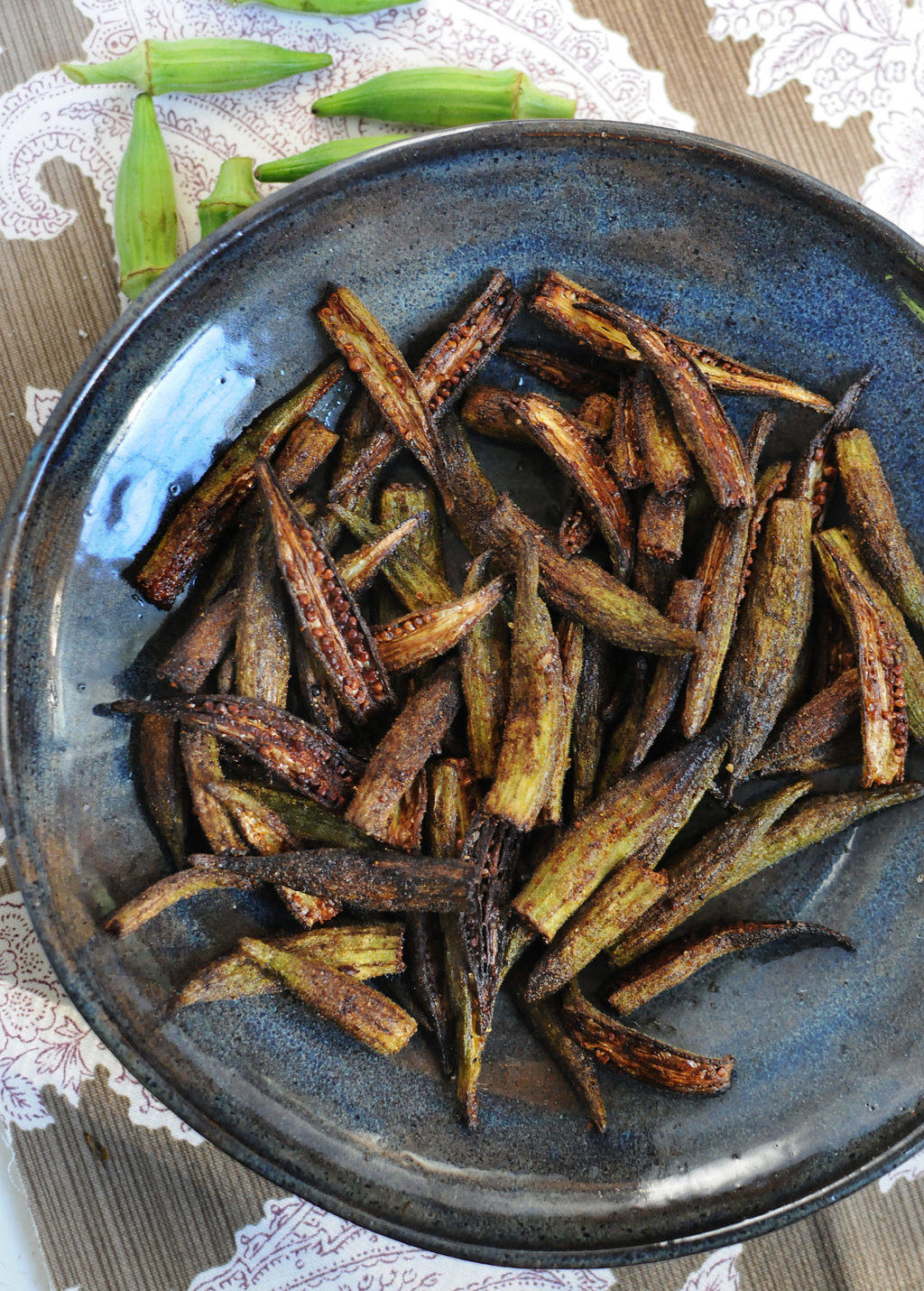 Crispy Roasted Okra