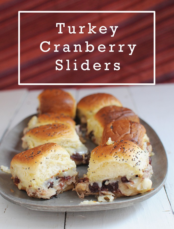 Turkey Cranberry Sliders from EatinontheCheap.com