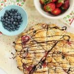 Berry Scones with Dark Chocolate Drizzle