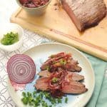 Broiled Flank Steak with Red Onion Marmalade