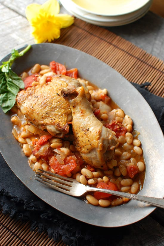 Italian Baked Chicken With White Beans And Tomatoes