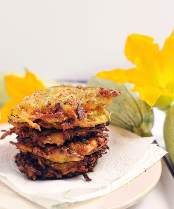 Cheddar Bacon Zucchini Fritters