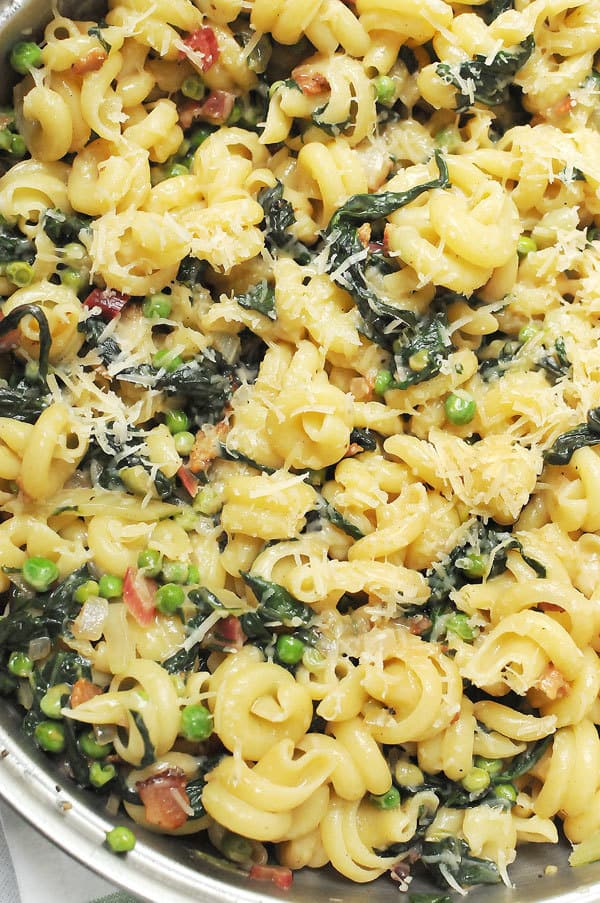 Spring Parmesan Pasta With Peas