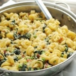 Spring Parmesan Pasta with Peas and Swiss Chard