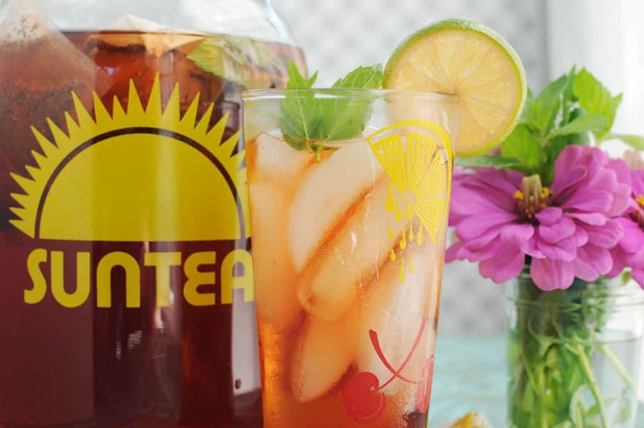 Raspberry Lime Sun Tea