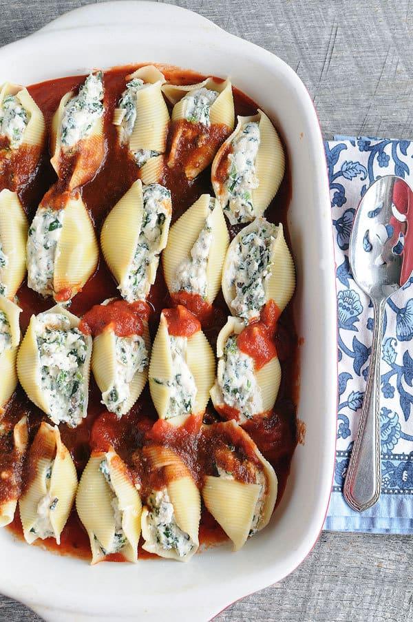 Spinach And Mushroom Stuffed Shells