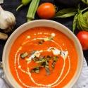 Oven Roasted Tomato Basil Soup
