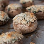Spinach & Crab Stuffed Mushrooms