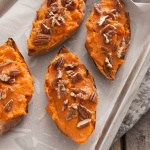 Maple Pecan Twice Baked Sweet Potatoes