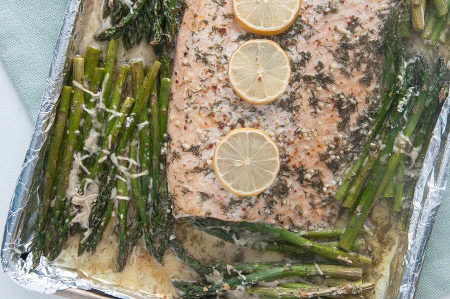 Sheet Pan Garlic Butter Salmon
