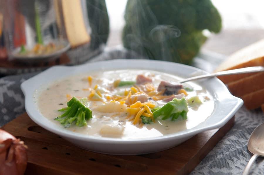 Ham Broccoli and Potato Chowder