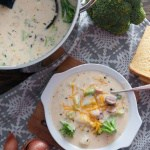 Ham Broccoli and Potato Chowder