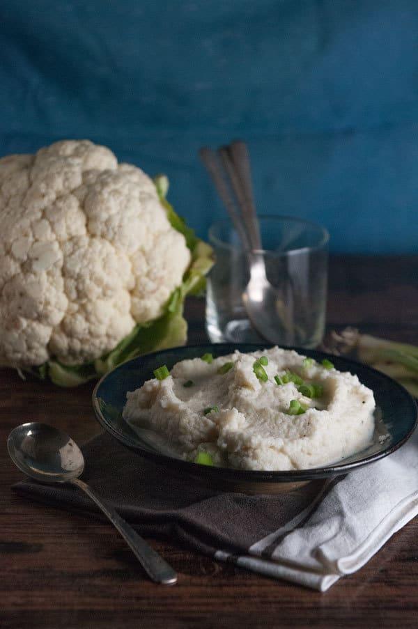 Easy Keto Parmesan Mashed Cauliflower