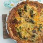 Low Carb/Keto Broccoli Cheddar Bacon Quiche