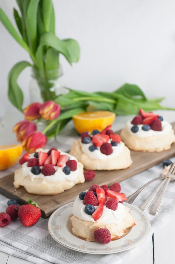 Sugar Free Meringues With Orange Mascarpone Cream