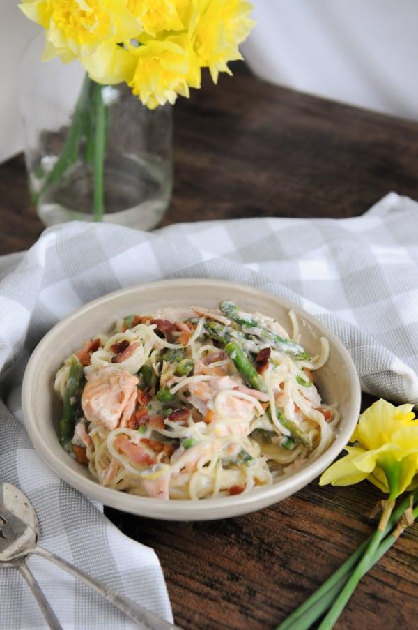Salmon Pasta Primavera