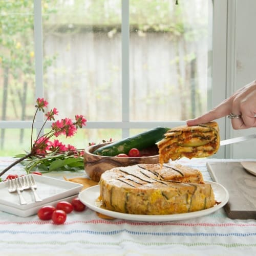 Low Carb Zucchini Timbale