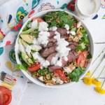 lack and Blue Steak Salad