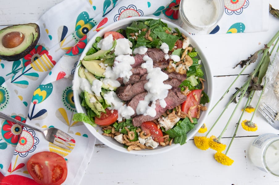 lack and Blue Steak Salad