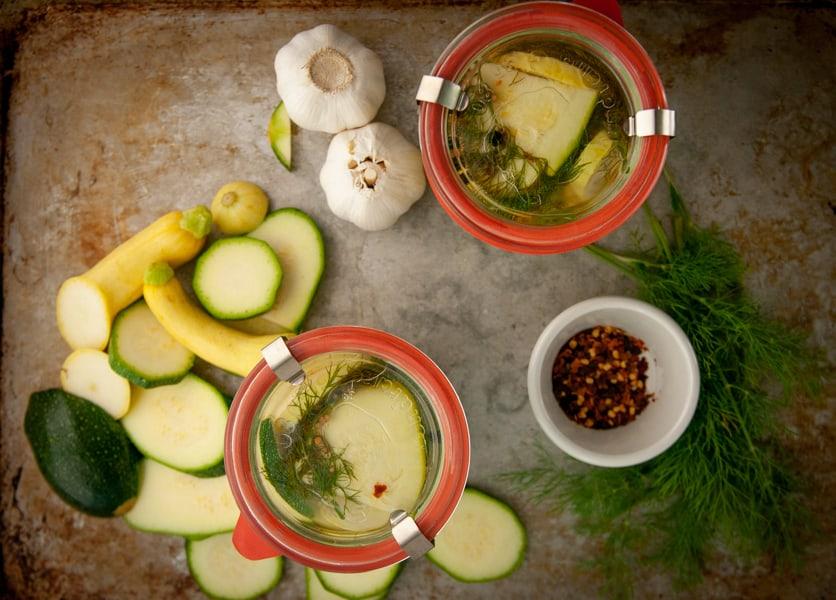 Spicy Fridge Zucchini Pickles
