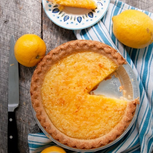 Old Fashioned Lemon Chess Pie Recipe