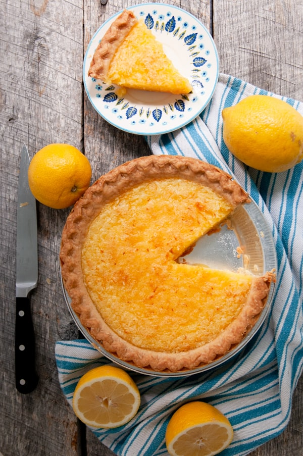 Old Fashioned Lemon Chess Pie on barnwod