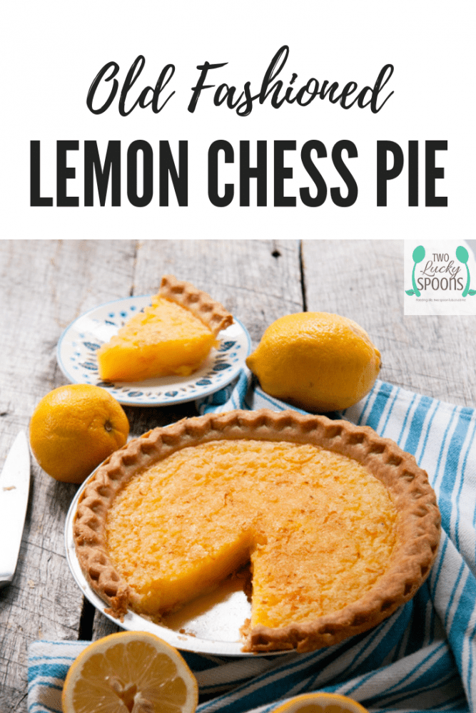 A southern favorite! Lemon Chess Pie is the perfect pantry dessert for your southern holiday meal! #southernrecipe #pie #chesspie
